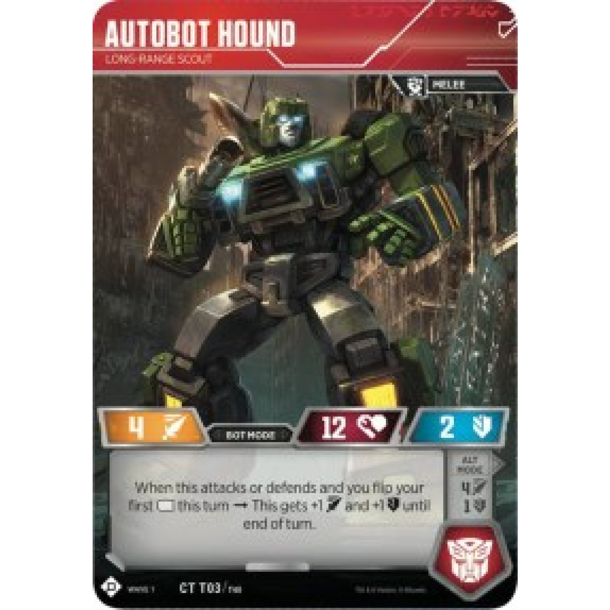 Wave 1 Autobot Hound Long-Range Scout CT T03//T40 Transformers TCG