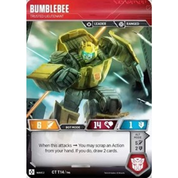 Transformers TCG Wave 2 Bumblebee Trusted Lieutenant CT T14